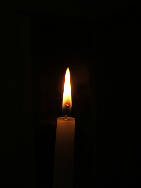 photo: Candle in the dark, by Andy Hay